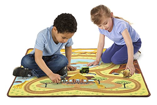 Melissa & Doug Round the Savanna Safari Activity Rug