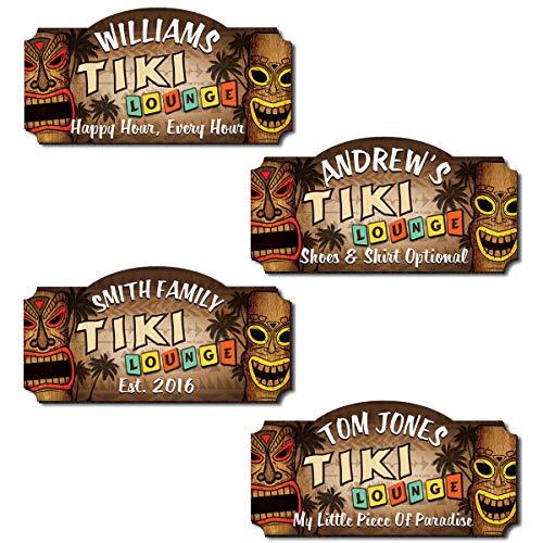 HomeWetBar Personalized Tiki Lounge Tiki Bar Sign