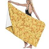 Toallas de playa, macarrones y queso de gran tamaño de microfibra súper absorbente personalidad toalla de baño toalla de playa manta toallas 76 x 152 cm