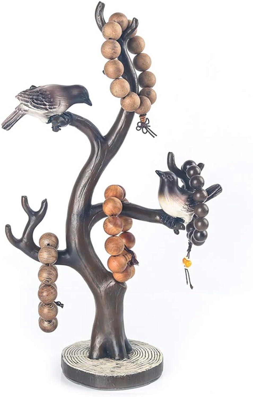 Jinxin-Caja Rama Exhibición de la joyería Joyas de Ave Creativa Marco Perlas Pulsera Joyas Rack de Almacenamiento Adornos Wenwan
