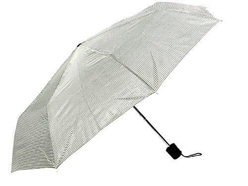 Alsino Regenschirm Mini Schirm Taschenschirm mit Hülle, Variante wählen:61/1947 oliv beige gestreift