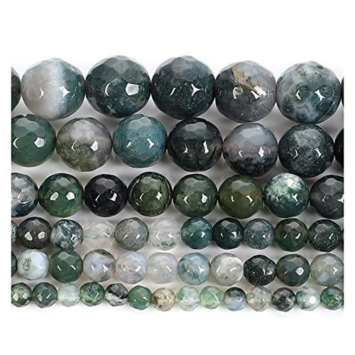 THEAHUE HG904 Perlas de Piedra Natural cortan la Superficie Verde ágata de Las Perlas Sueltas para la joyería Que Hace Costura Bricolaje Pulsera Strand 4-12 mm Encantos de Abalorios