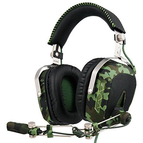 GW SADES SA926T Stereo Gaming Headset for PS4 New Xbox One, Bass Over-Ear Headphones with Microphone and In-line Volume Control for Laptop, PC, Mac, iPad, Computer, Smart phones(Camouflage)