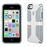 【日本正規代理店品】 Speck Products iPhone 5C CandyShell Grip White/Gravel Grey SPK-A2245