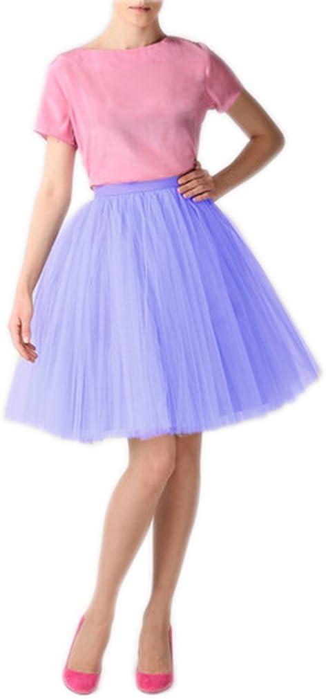 Lisong Knee Length Layered Tulle Tutu Party Skirt for Women