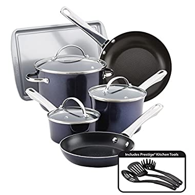 Farberware 10062 Nonstick Cookware Set, Large, Sapphire Shimmer
