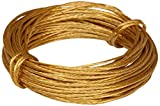Merriway BH02242 Brass Number 1 Picture Wire, 6 Metre (19.5ft), 6kg (13lb) Breakweight