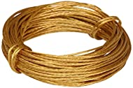 Ideal for hanging pictures frames or mirrors Available in a brass plated finish The length of the wire is 6 metres Wire break weight 6kg (13Lb) Manufacturer: Merriway