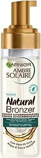 Garnier Ambre Solaire Natural Bronzer, Mousse Autoabbronzante, Arricchita con Acqua di Cocco Idratante, Formula Vegana, 20...