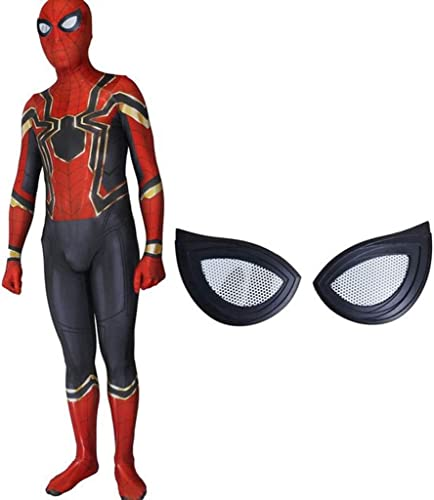 GIFT ZHIZHUXIA Iron Spider-Man Rehabilitation 3 Cosplay Kostüm Elastische Strumpfhose Film Spiel Kostüme Kostüm Body Offizieller SpiderMan (Farbe   Schwarz1, Größe   M)
