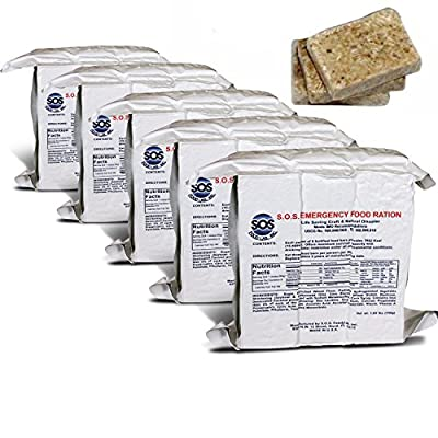 S.O.S. Rations Emergency 3600 Calorie Food Bar - 3 Day / 72 Hour Package with 5 Year Shelf Life- 5 Packs from SOS Food Labs, Inc.