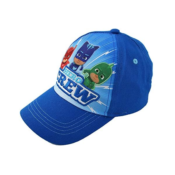 PJ Masks Boys Cotton Baseball Cap with Embroidery (Ages 2-7)