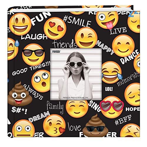 Pioneer Photo Albums Emoji 200 pkt 4x6 Photo Album, Pocket, Black