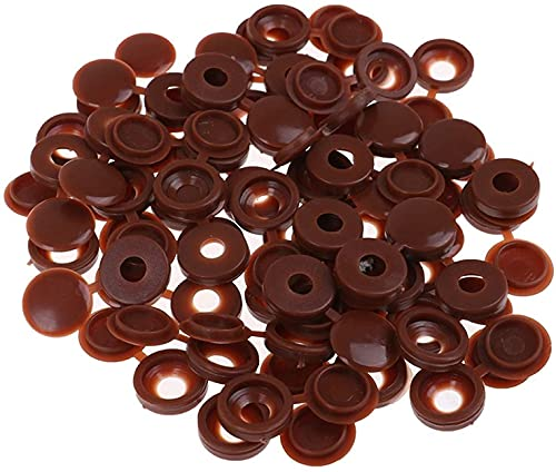 50 piezas de plástico con bisagras de la cubierta del tornillo de las tapas del botón para la cubierta decorativa de los muebles del coche