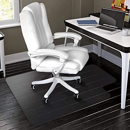 Office Chair Mat for Hard Wood Floors - 36'x47' Heavy Duty Desk Chair Mat Floor Protector for Rolling Chairs- Transparent