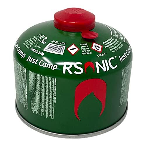 RSonic Cartucho de válvula de rosca, gas butano y propano/válvula de gas para hornillo de camping, cartucho de gas con válvula de rosca 100-230-450 g (1, 230 g)