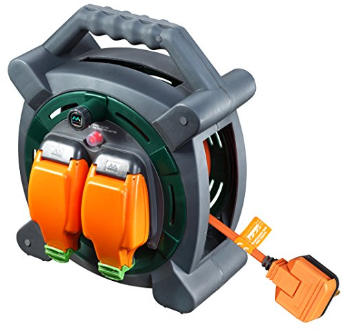Masterplug HLP2013/2IP 20m Outdoor IP Rated Cable Reel with Weatherproof Sockets 13A Case Reel (2 Sockets)