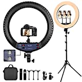 FOSITAN 21-inch Ring Light,【Upgraded】 LED Ring Light Kit with 1.9M Tripod Stand...