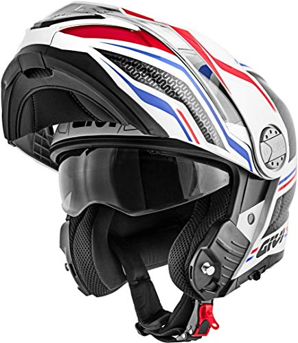 Givi Hps X33 Full Face Helmet Canyon Graphics Layers White/Red/Blue Size 54/XS | HX33FLYWB54