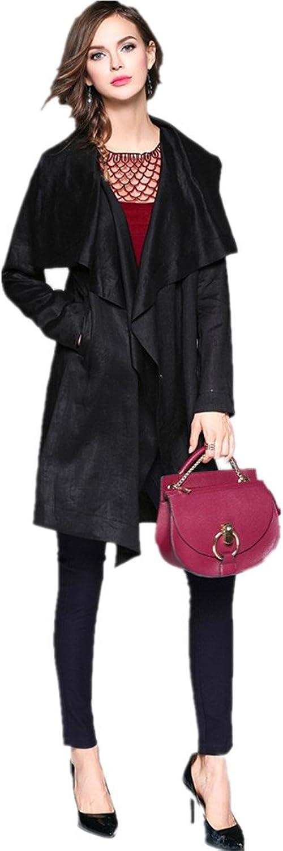Bobbycool Ladies Fashion Temperament Pure Irregular Short Coat