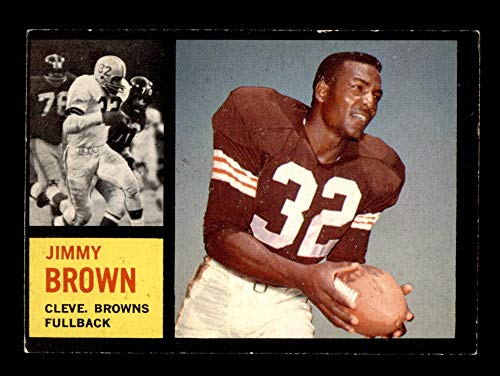 1962 Topps # 28 Jim Brown Cleveland Browns-FB (Football Card) VG/EX Browns-FB Syracuse