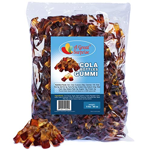 Gummy Candy – Gummy Cola Bottle – Cola Gummies – Mini Size – Brown Candy - Bulk Candy – 5 Pounds
