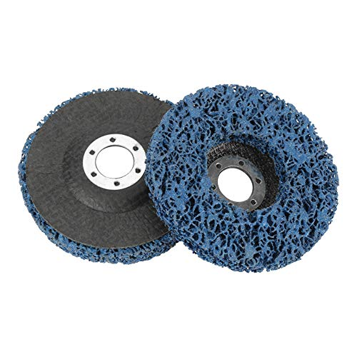 Poly Strip Wheel-2Pcs 115mm Blau Poly Strip Wheel Scheibenlack-Rostentfernungswerkzeug für Angel Grinder