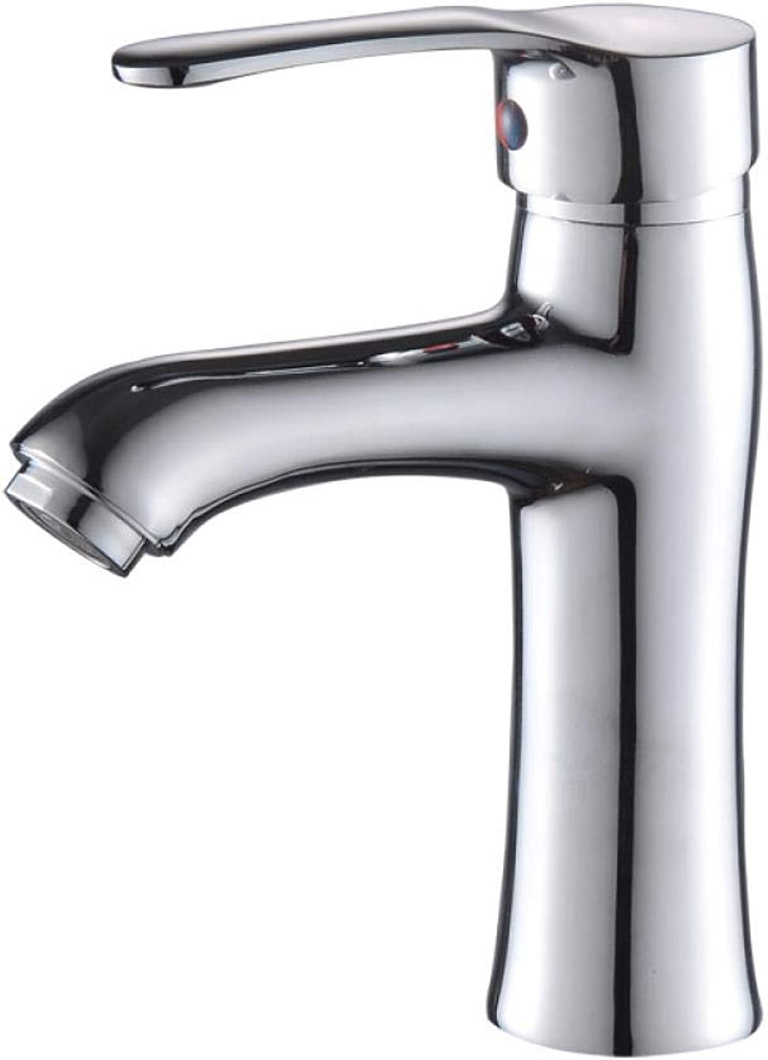 Stainless Steel Hot and Cold Washbasin Heightening Single Hole Straight Mouth Tap C7659