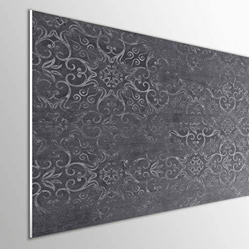 MEGADECOR DECORATE YOUR HOME Cabecero Cama PVC 5mm Decorativo Económico. Modelo - NYBRO (100x60cm, Gris Oscuro)