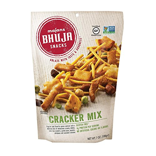 Majans Bhuja Gluten Free Snack Mix, Non-GMO   No Preservatives   Vegetarian Friendly   No Artificial Colors or Flavors, Cracker Mix, 7 Ounce (Pack pf 6)