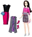 Barbie Fashionista, muñeca elagancia a cuadros con 2 conjuntos...