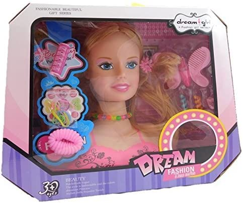 Allkindathings Inventory cleanup selling sale Children Spring new work one after another Kids girls Hair Dolls Head Styling Dream