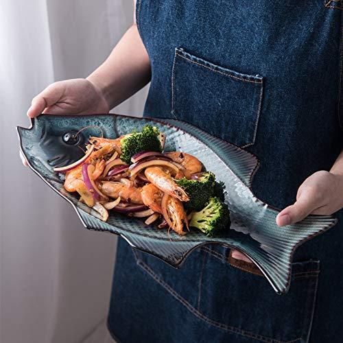 SUNXK Kiln keramisch servies Japanse stijl visschotel diner bord beschikt over een restaurant gerecht visschotel huishoudelijke oven hotels disc