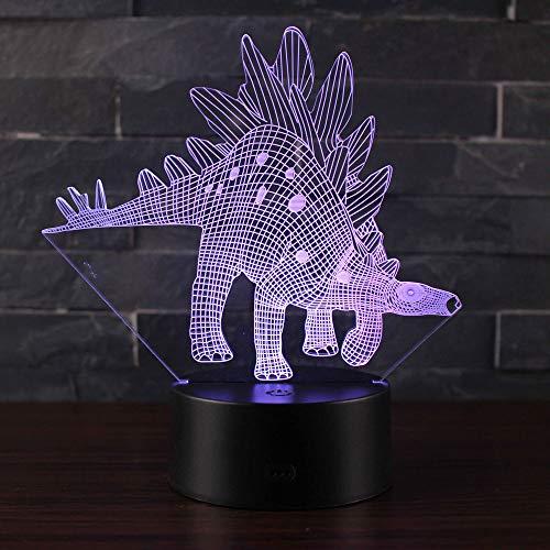 3D Illusion Nuit Lumière Win-Y LED Bureau Table Lampe 7 Couleur Tactile Lampe Maison Chambre Bureau Décor pour Enfants D'anniversaire De Noël Cadeau (Dinosaure N1)