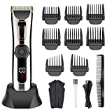<span class='highlight'><span class='highlight'>Solimpia</span></span> Hair Clipper for Men Cord/Cordless Professional Barber Hair Cutting Kit Beard Trimmer with LED Display Waterproof