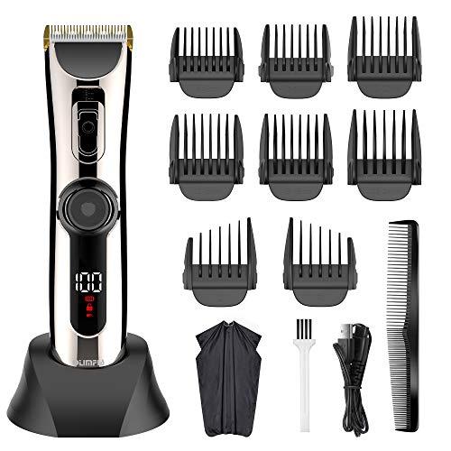 Solimpia Haarschneider für Herren kabelloserProfiHaartrimmerBartschneiderHaarschneidemaschine Kit Barttrimmer mit LED-AnzeigeWasserdicht