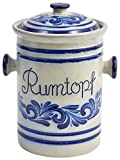 vivApollo Westerwälder Kannenbäckerland - Pentola per fermentazione in gres porcellanato smaltato a sale, 3,5 l, colore: Bianco