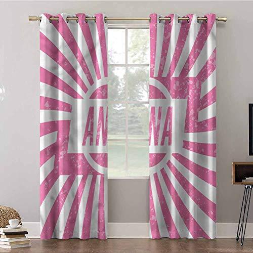 Cortinas opacas para dormitorio, tratamiento de ventanas de 96 pulgadas de largo, ojales térmicos, Anna, nombre de las niñas, cortinas de oscurecimiento de habitación (2 paneles)