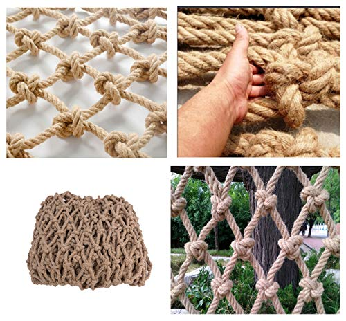 Safety Net Balcony Protection Climbing Net, Stair Handrail Playground Climbing Net Net Net Net Decorative Birds Hemp Rope Photo Wall Hammock Nets Hanging Clothes Mesh, 8mm Thick Rope Kindergarten Scho