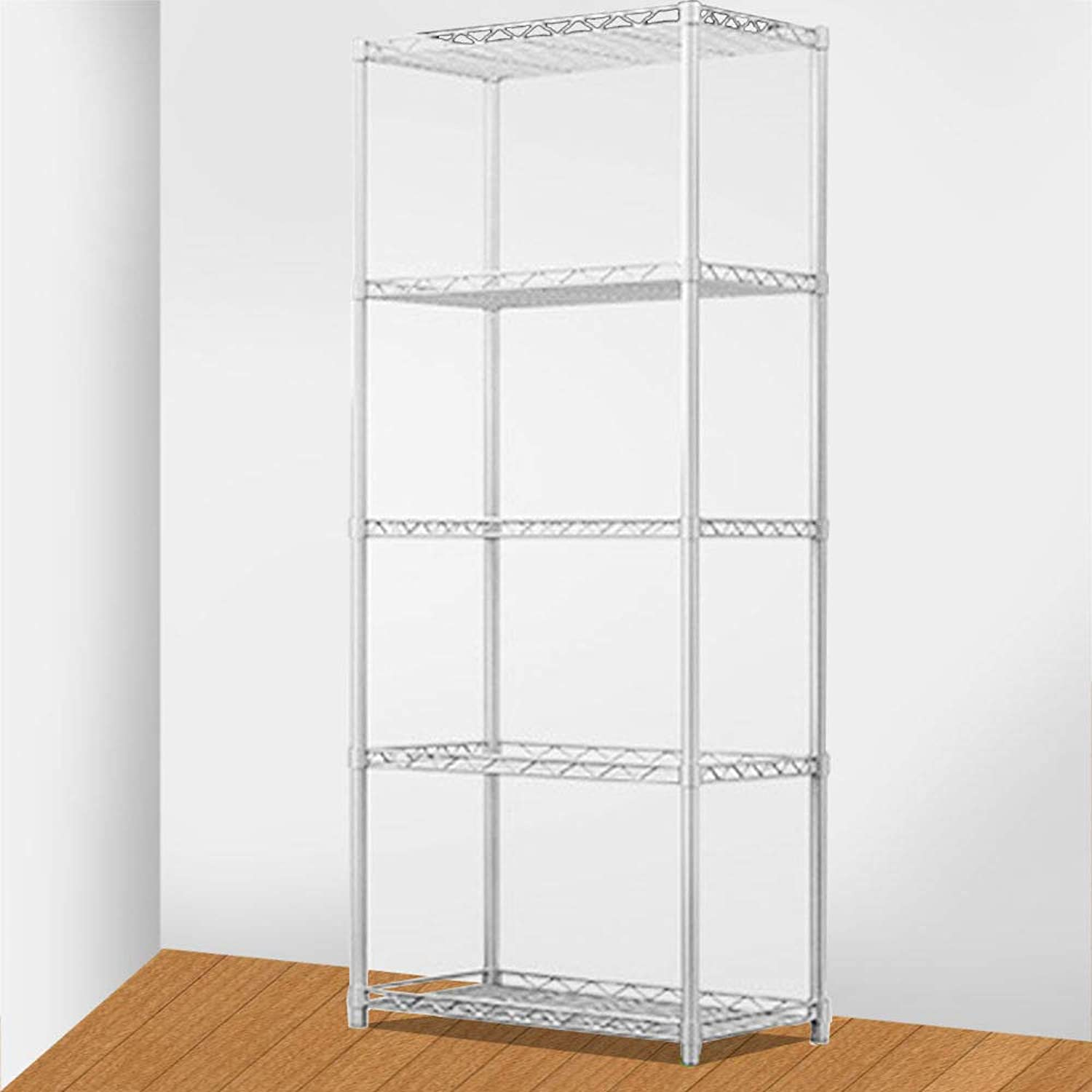 Generic en Office Unitg Wire Shelf Wire Shelf Tier Silver Metal Kitchen Office Storage Rack Shelving Unit Tier Silver
