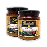 Botticelli Premium Italian Olive Bruschetta (Pack of 2) with Green & Black Olives, Capers & Olive Oil for Bread Topping - Authentic Italian Appetizer - 10.2oz