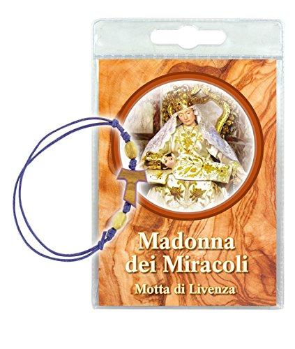 Ferrari & Arrighetti Pulsera con oración a la Virgen Milagrosa en Italiano (Paquete de 2 Piezas)