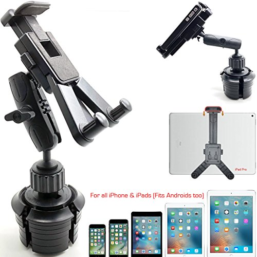 ChargerCity HDX-2 Car SUV Truck Drinks Beverage Cup Holder Mount for Smartphones & Tablets : Apple iPad Pro Air Mini iPhone 11 Pro XR XS MAX X 8 Galaxy S10 Note Tab S E (Fits Home Theater Recliner)