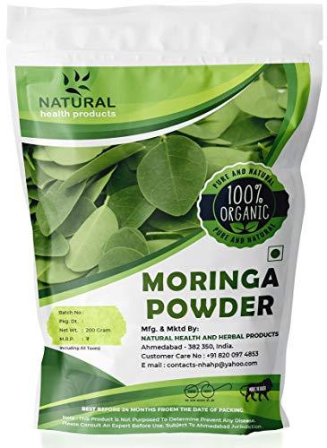 Natural Health Products Pure Natural Moringa leaf Powder | No Preservatives | No Additives – 200 gram