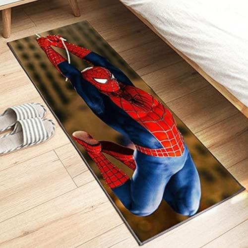llc Tapis Créatif Classique Grand Film Spiderman Longue Bande Courte Velours Dessin Animé Chambre d