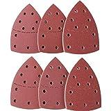 XMSIA Discos de Lijado Triángulo Rojo 11 Hoyos 152 * 105 Tipo de Palma Atranilla de Lija Velvet para Lijadora Orbital Aleatoria (Color : Red, Size : 50pcs Set)