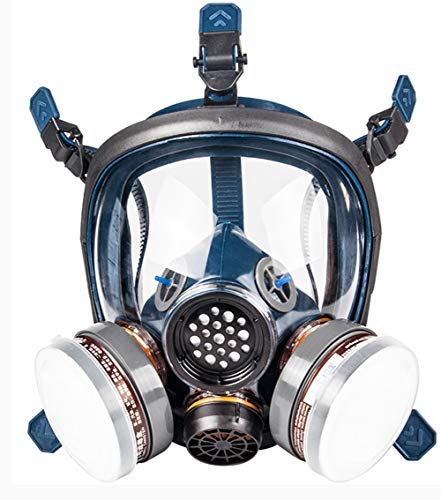 Full Face Respirator Mask Gas Mask Respirators Safety Mask with Activated Carbon Filter