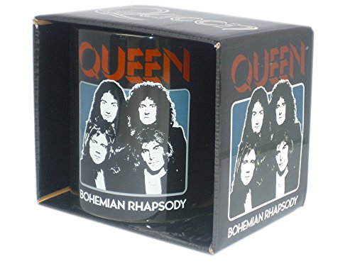 Queen - Rock Band Tasse Geschenktasse - Bohemian Rhapsody - toll verpackt in einer Geschenkbox