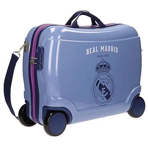 Real Madrid Classic Equipaje Infantil, 50 cm, 34 litros, Morado