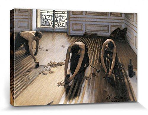 1art1 Gustave Caillebotte - Die Parkettschleifer, 1875 Bilder Leinwand-Bild Auf Keilrahmen   XXL-Wandbild Poster Kunstdruck Als Leinwandbild 120 x 80 cm